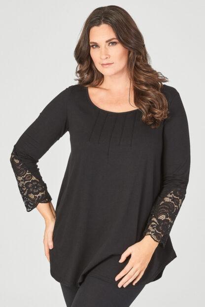 Fashionbook wholesale plus size lace cuff top