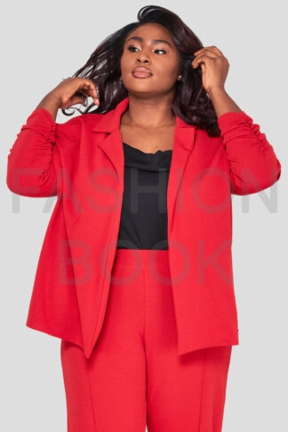 Fashionbook Wholesale Plus Size Red Blazer