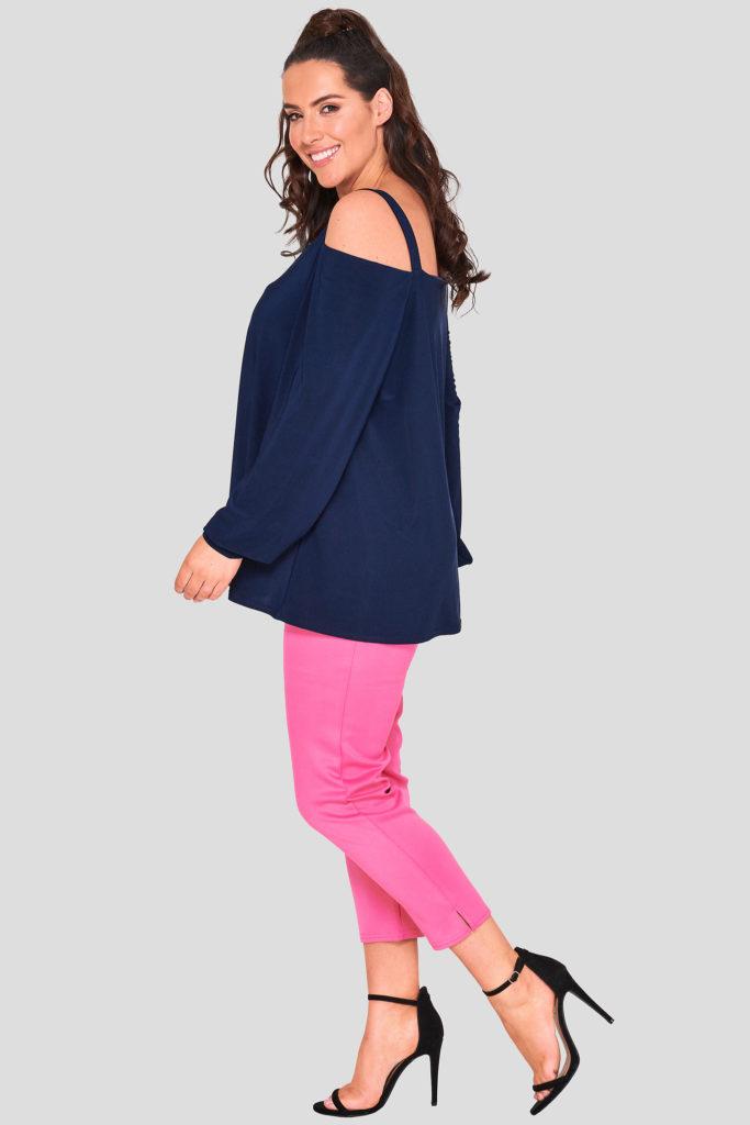 Fashionbook wholesale plus size cold shoulder top