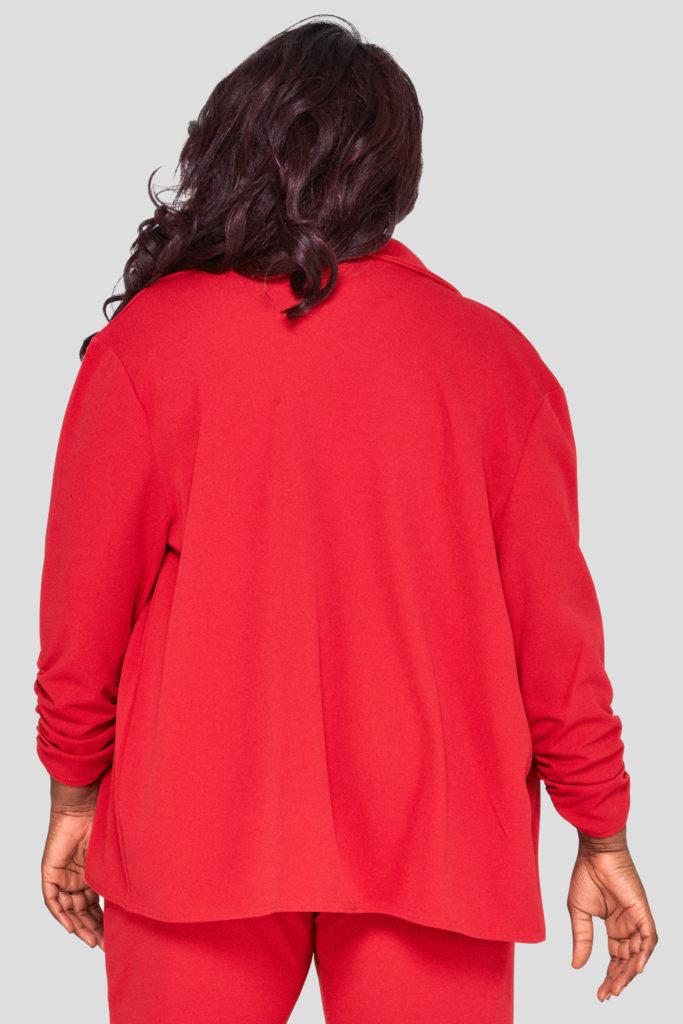 Fashionbook Wholesale Plus Size Red Blazer
