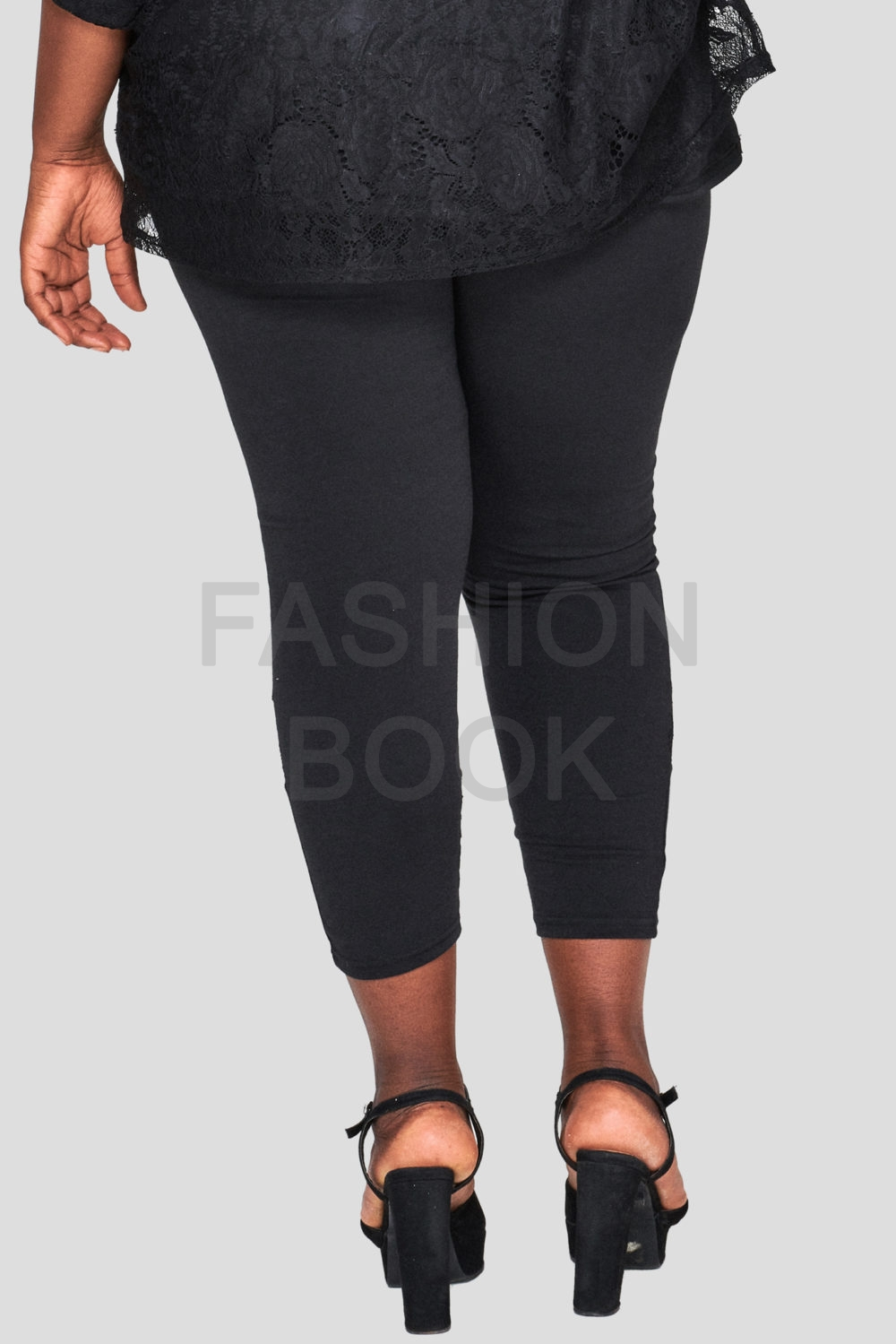 Fashionbook Wholesale Plus Size Lace Legging Black