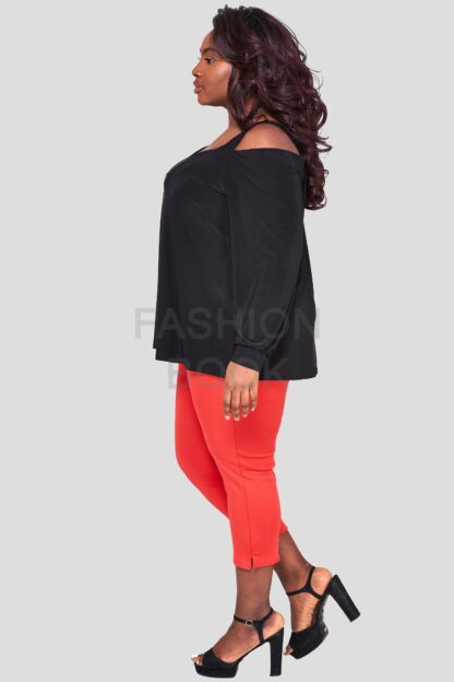 Fashionbook wholesale plus size cold shoulder top