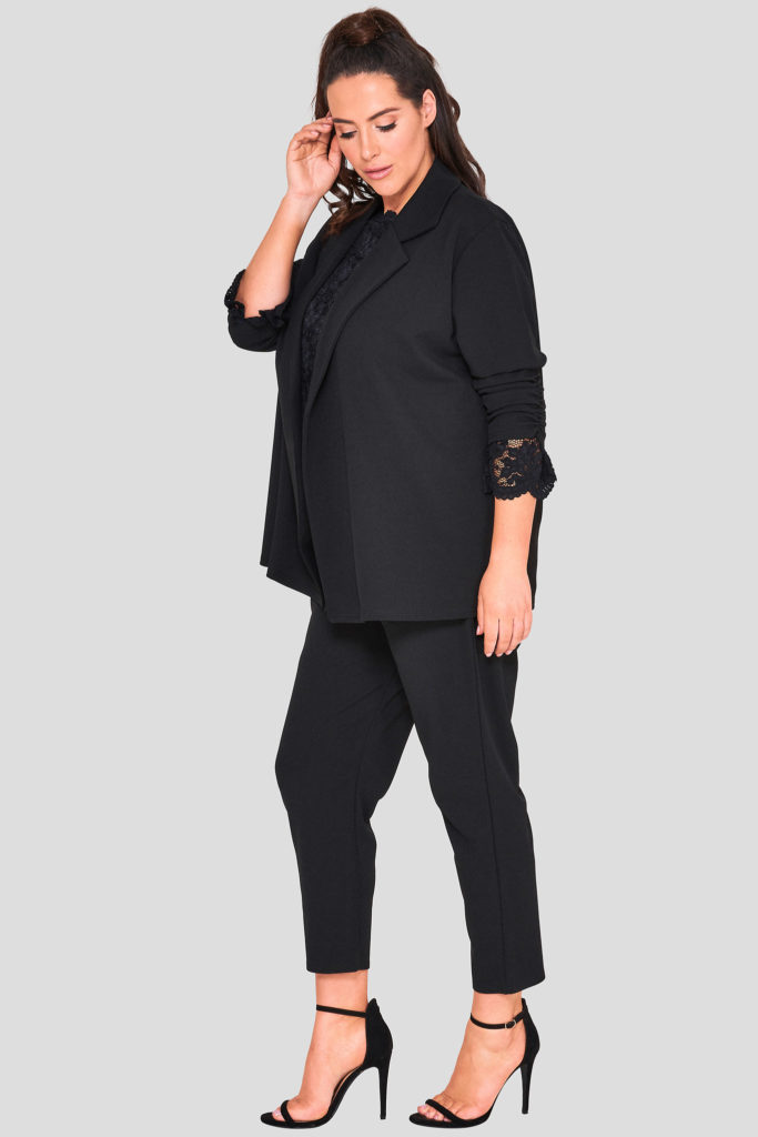 Fashionbook Wholesale Plus Size Black Blazer