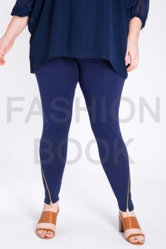 Fashionbook wholesale zip hem plus size leggings