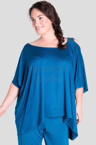 Fashionbook wholesale plus size clothing sequin loungewear top