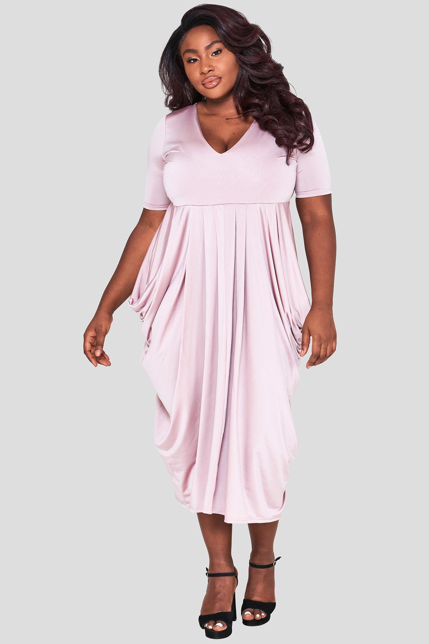 Wholesale Curve Drape Dress Plus Size Fashion Book