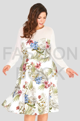 Fashionbook Wholesale Plus Size Floral Print Dress