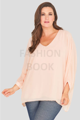 fashionbook wholesle plus size chiffon top made in england