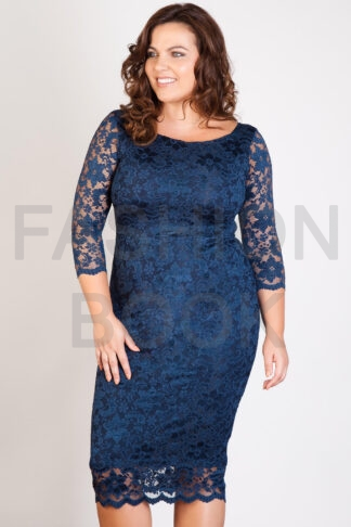 Fashionbook wholesale plus size lace midi dress