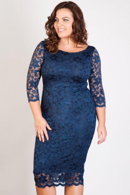 Fashionbook wholesale plus size lace midi dress