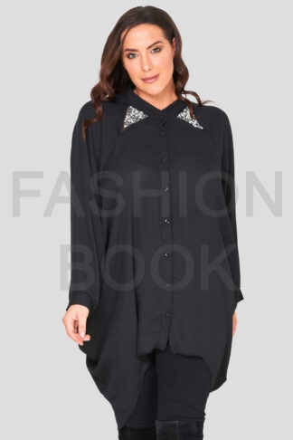 fashionbook wholesale plus size embellished shirt