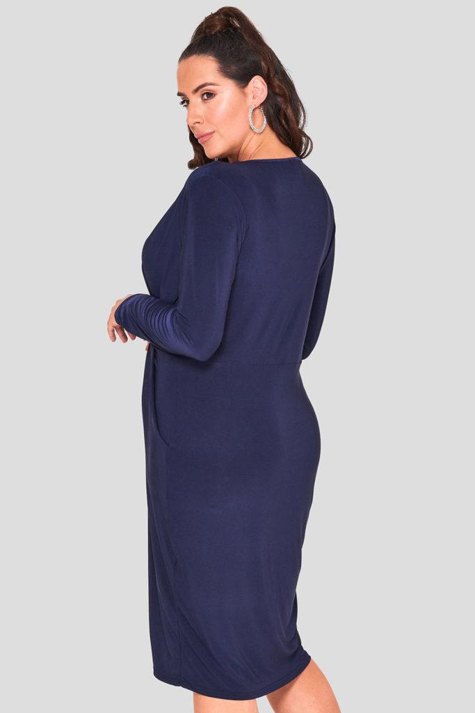 fashionbook wholesale plus size print v-neck jersey dress