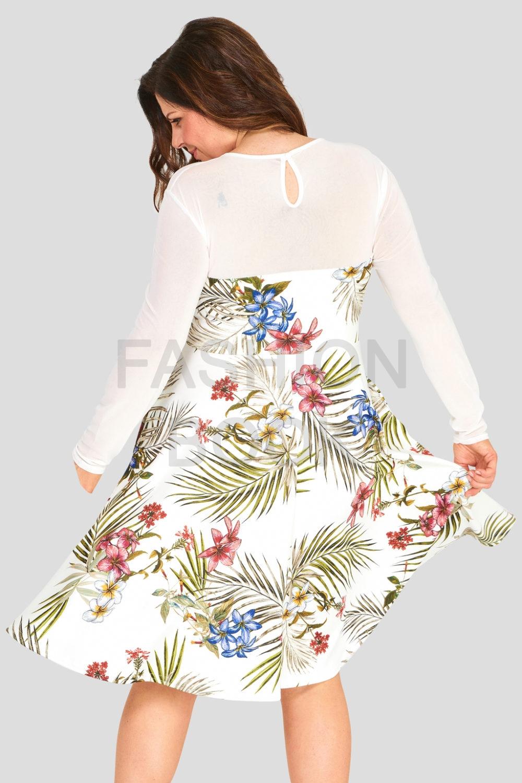 Fashionbook Wholesale Plus Size Floral Print Dress