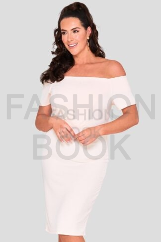 Fashionbook wholesale plus size bardot midi dress