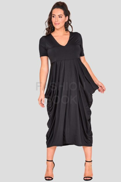 fashionbook wholesale plus size drape dress black