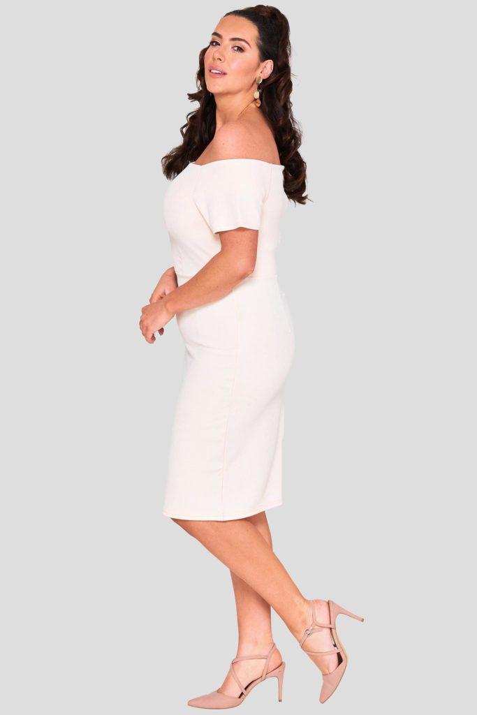 Fashionbook wholesale plus size bardot midi dress