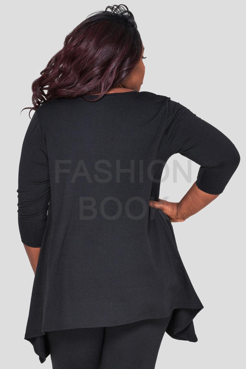 fashionbook wholesale plus size clothing lace trim top