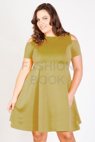 Fashionbook Wholesale cut out shoulder skater dress plus size