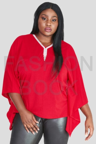 Fashionbook wholesale plus size clothing embellished poncho