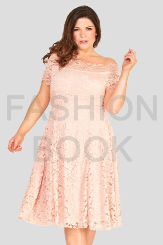 fashionbook wholesale plus size clothing vintage lace skater dress