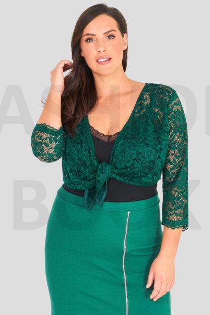 Fashionbook Wholesale plus size clothing cropped lace shrug