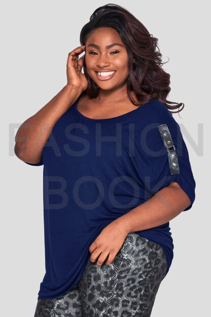 fashionbook wholesale plus size buckle detail top