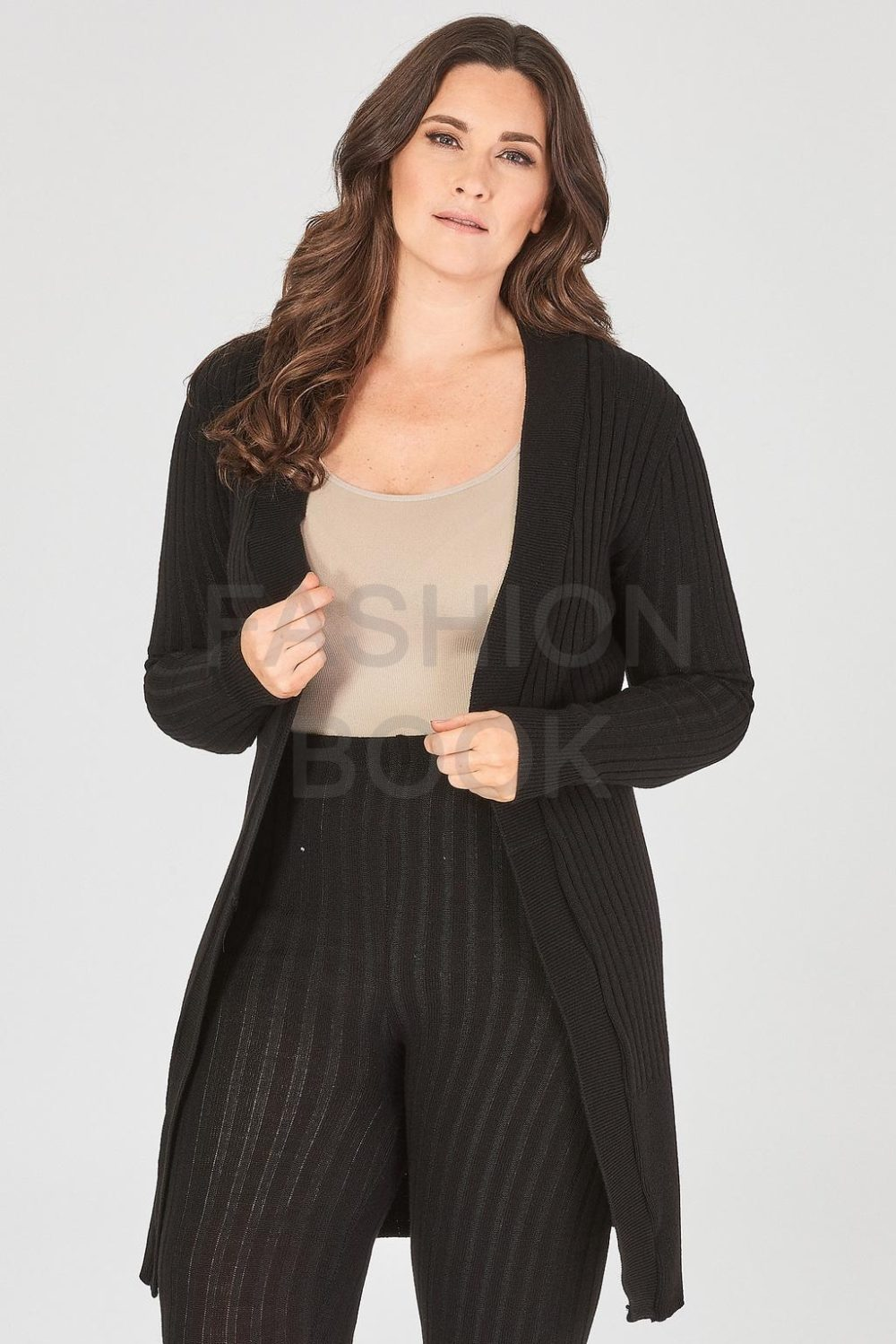 fashionbook wholesale plus size knitted cardigan