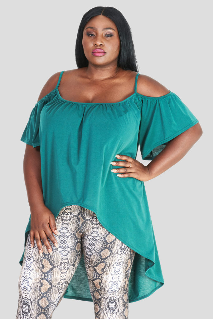 fashionbook wholesale plus size open shoulder top
