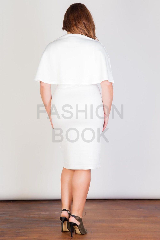Fashionbook wholesale plus size clothing cape dress
