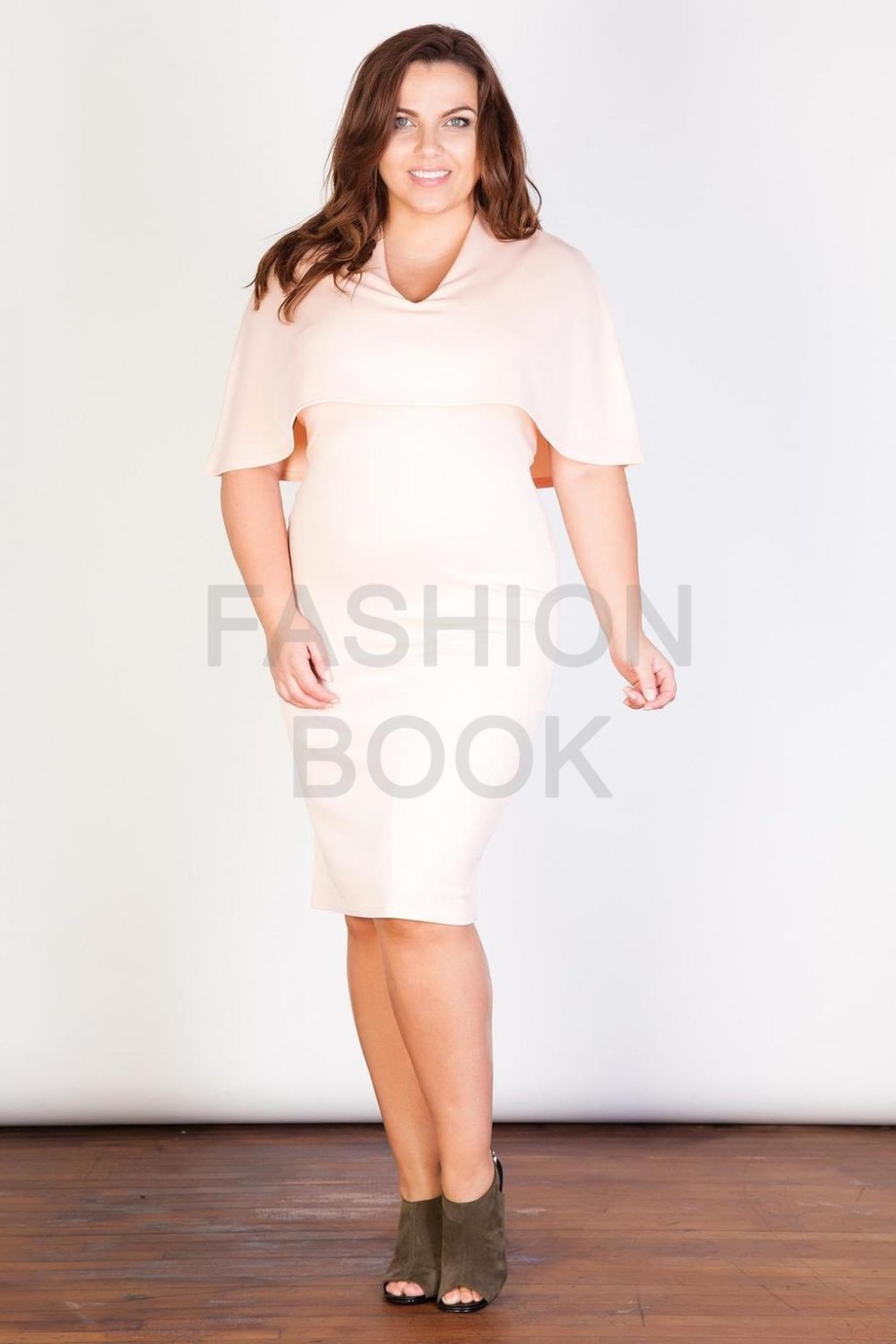 Fashionbook wholesale plus size clothing cape dress