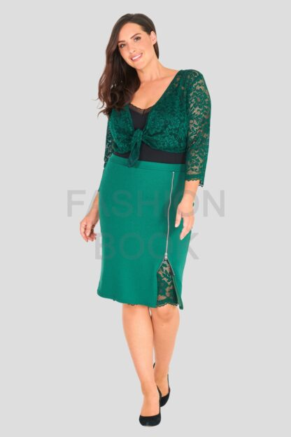 Fashionbook Wholesale plus size clothing cropped lace shrug
