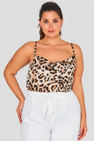 Cowl Print Cami Plus Size Top Wholesale