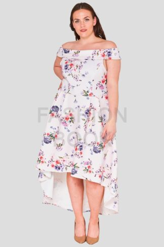 Dip Hem Floral Plus Size Wholesale Occasion Dress