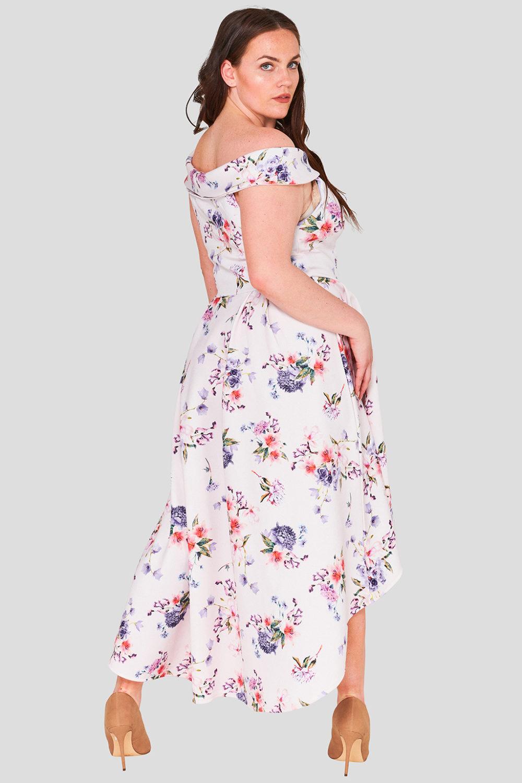 Dip Hem Floral Plus Size Wholesale Occasion Dress