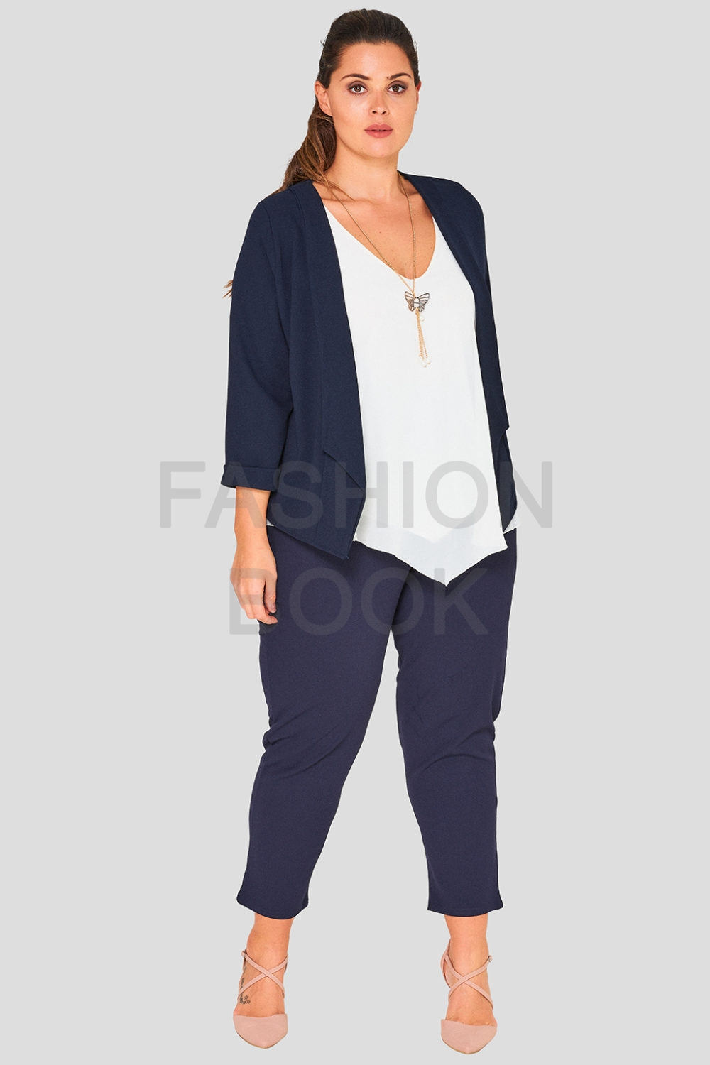 Drape Front Plus Size Wholesale Blazer