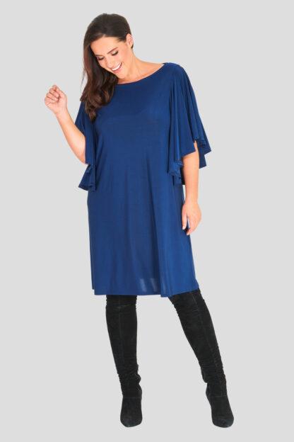Frill Sleeve Plus Size Wholesale Shift Dress