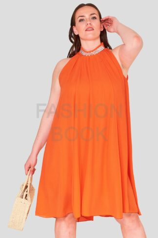 High Neck Plus Size Swing Dress Wholesale