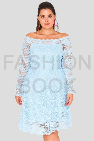 Lace Off The Shoulder Plus Size Wholesale Dress