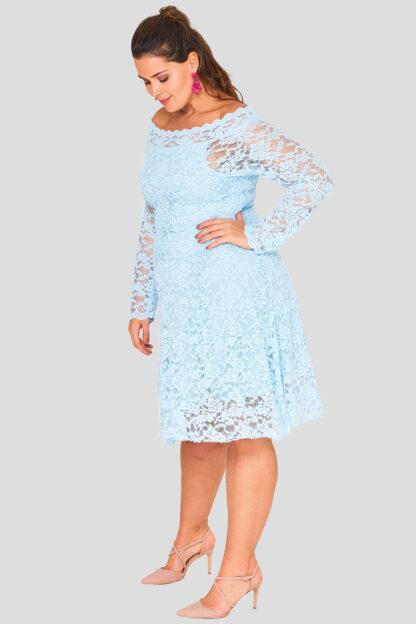 Lace Off The Shoulder Plus Size Wholesale Dress