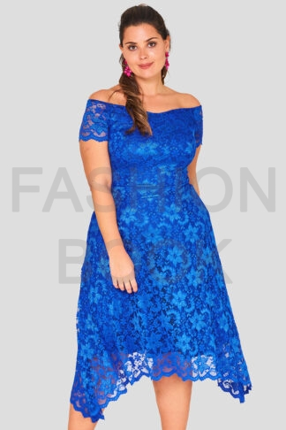 Off The Shoulder Lace Plus Size Wholesale Dress