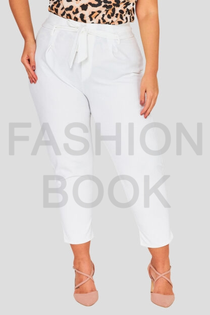 Paper Bag Waist Plus Size Wholesale Trousers