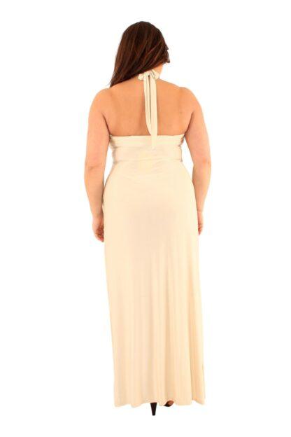 Bandeau Halter Plus Size Maxi Dress Wholesale
