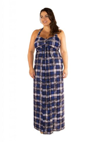 Bandeau Halter Plus Size Maxi Dress Wholesale