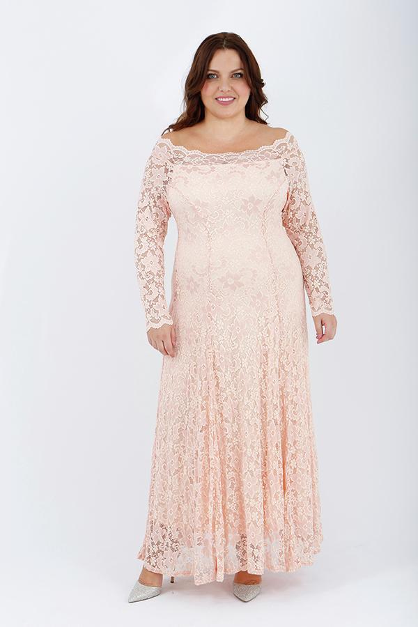 Off The Shoulder Lace Maxi Dress