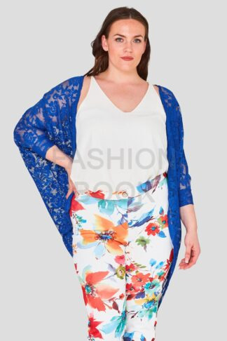 Blue Plus Size Lace Shrug Wholesale