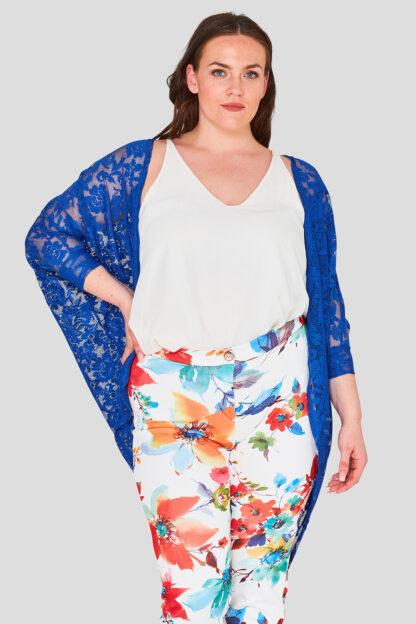 Blue Plus Size Lace Shrug Wholesale