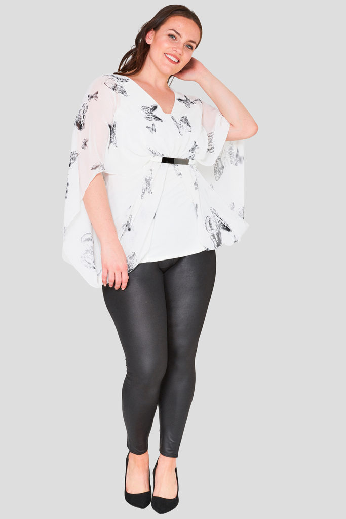 Butterfly Print Plus Size Top Wholesale