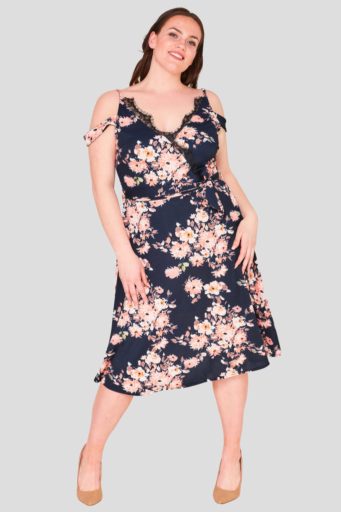 Floral Plus Size Occasion Dress Wholesale