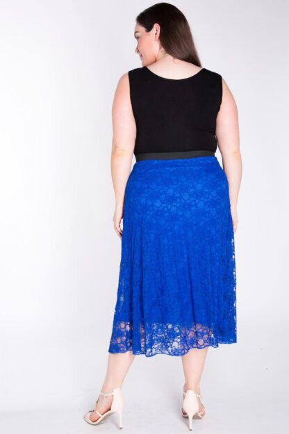 Fully Lined A-Line Plus Size Lace Skirt Wholesale