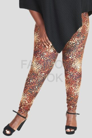 Leopard Print Leggings Plus Size Wholesale